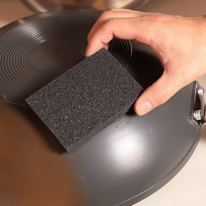 Multi-functional Magic Emery Sponge Brush Eraser Cleaner Kitchen Rust Cleaning Tool