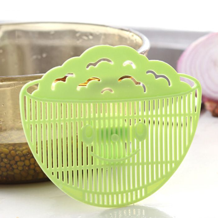 Multi-functional Clip Type Rice Washing Strainer Sieve Fruit Cleaning Tool Kitchen Gadget
