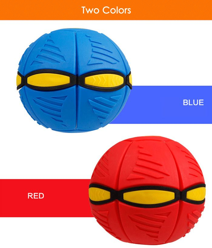 Magic Flat Ball Magnetic Flying Plate Transform Ball with Light