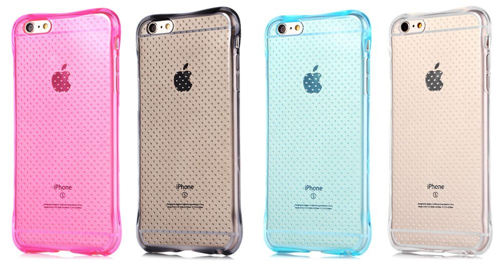 Transparent Style TPU Soft Case Protective Cover for iPhone 6 / iPhone 6S with Salient Points Design