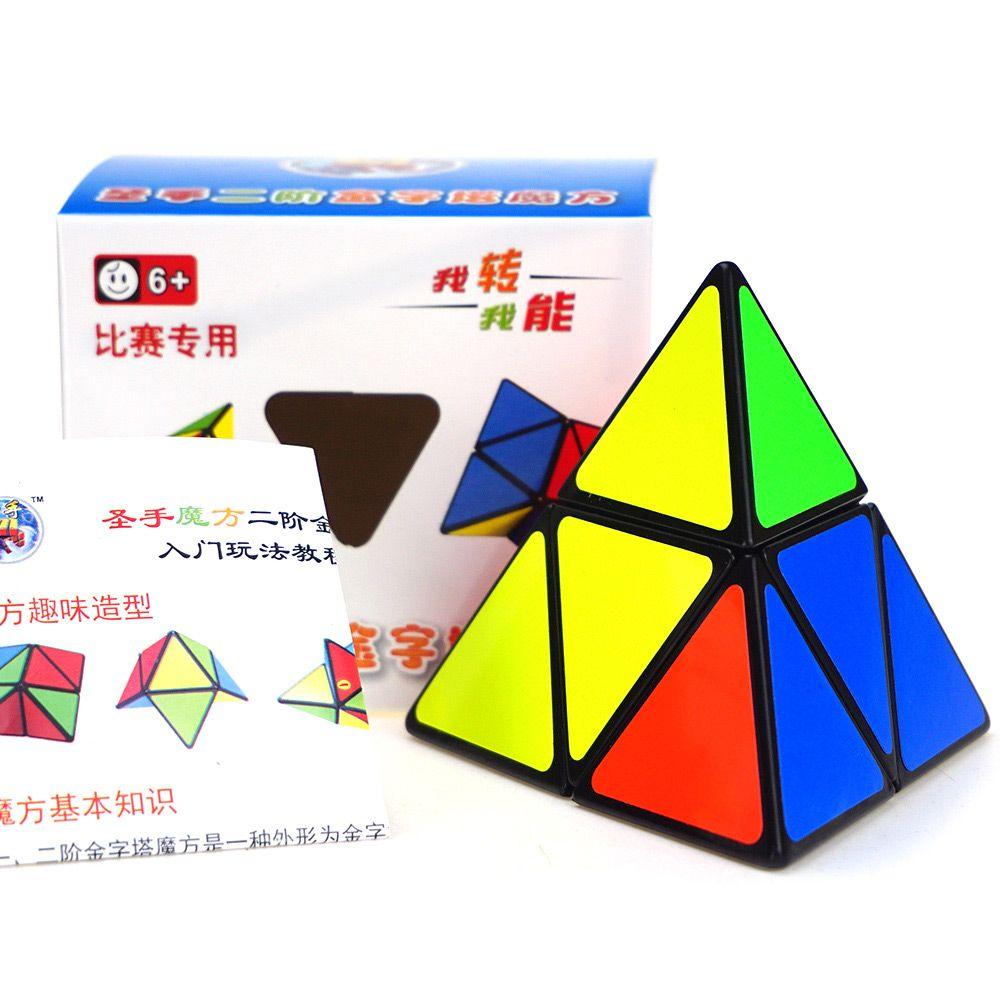 Shengshou Cube 9.8cm Side Pyraminx Mix-color Base Fun Educational Toy