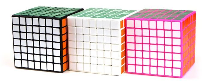 Shengshou Cube Glossy 7 x 7 x 7 V-Cube 7 Pink Base Fun Educational Toy