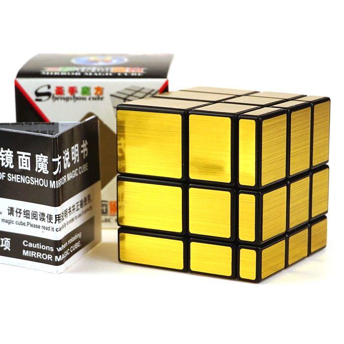 Shengshou Cube Mirror 3 x 3 x 3 Magic Cube Black Base Fun Educational Toy