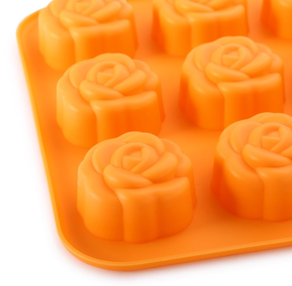 Cute DIY Rose Flower Shape Cake Molds Silicone Multi-Function Bakeware Cooking Tools