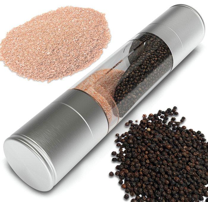 Practical Stainless Steel Push Type Pepper Grinder Manual Salt Mill Muller