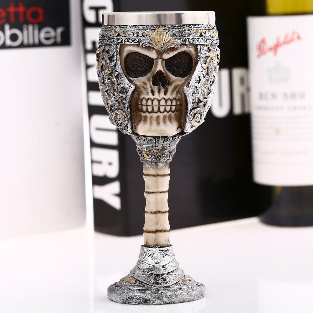 Creative Vintage King Knight Skeleton Skull Style Goblet Retro Wine Mug Party Decoration