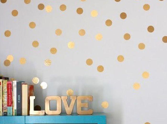 PVC 32PCS Dot Shape Wallpaper Decorative Wall Stickers Water Resistant Home Art Decals