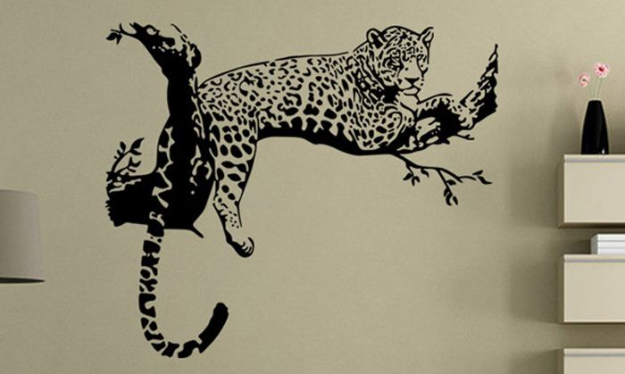 PVC Leopard Shape Decorative Wallpaper Wall Stickers Water Resistant Home Art Decals