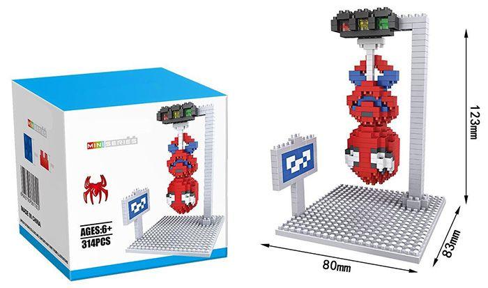 Super Hero Micro Diamond Building Block - 320Pcs Educational Kid Toy