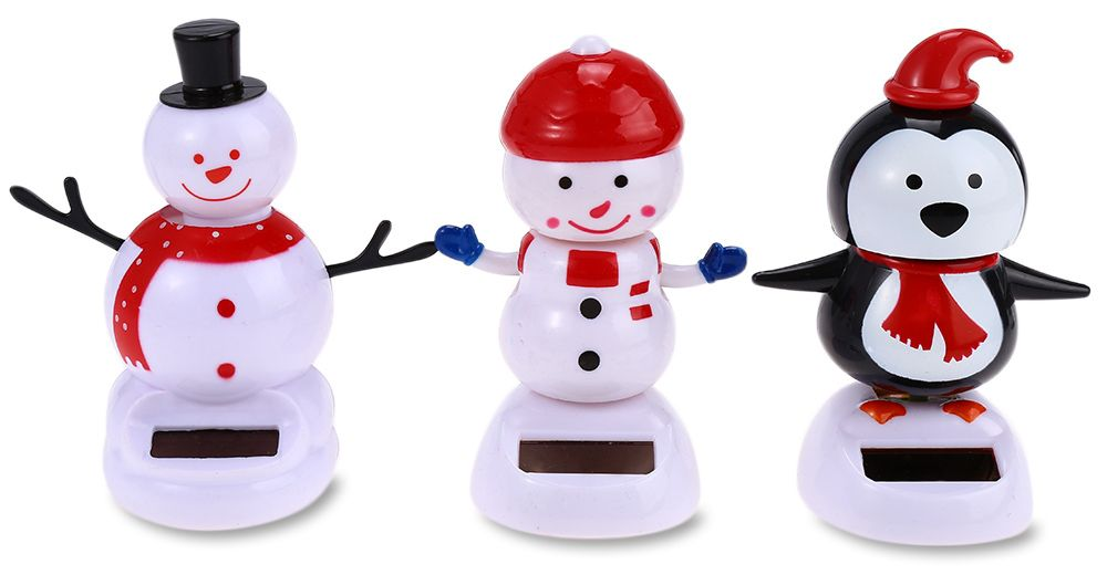 Solar Energy Shaking Snowman House Decoration Christmas Gift