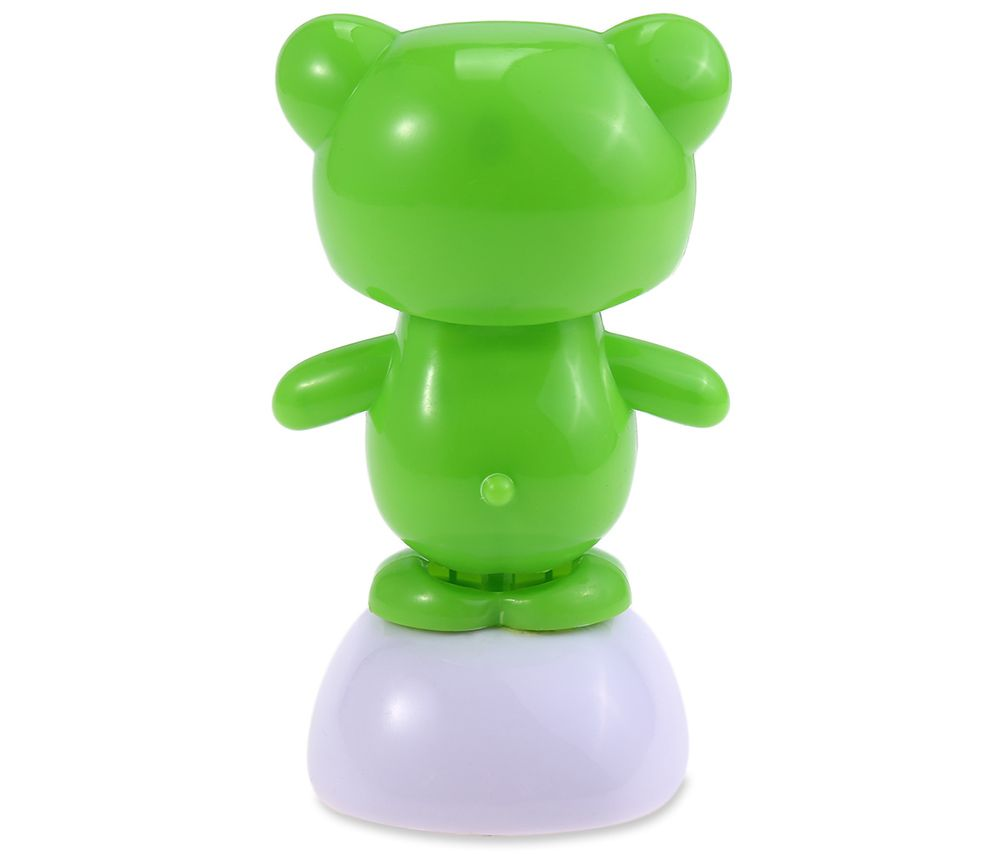 Solar Energy Shaking Frog with Glasses House Decoration Christmas Gift