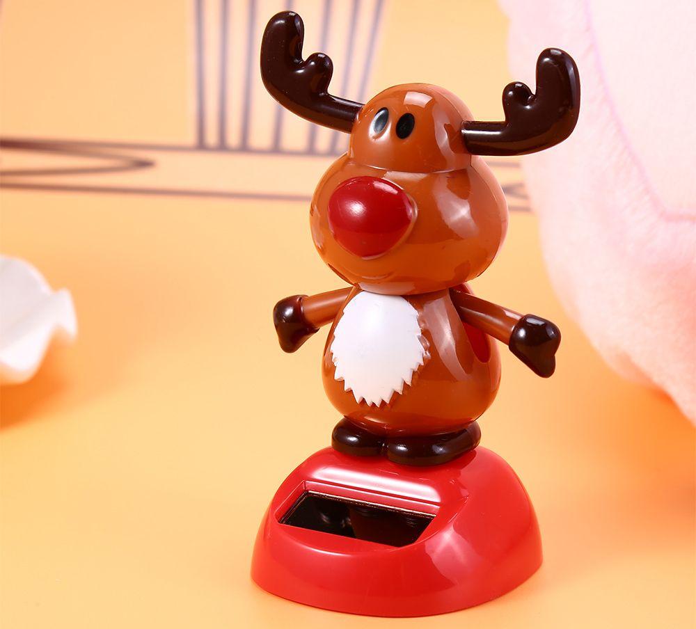 Solar Energy Shaking Cow House Decoration Christmas Gift