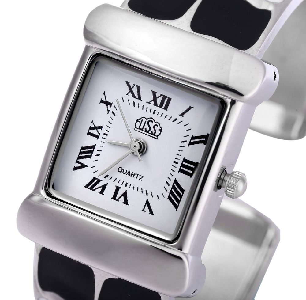 USS 1430 Quartz Women Watch Bracelet Epoxy Stainless Steel Watchband