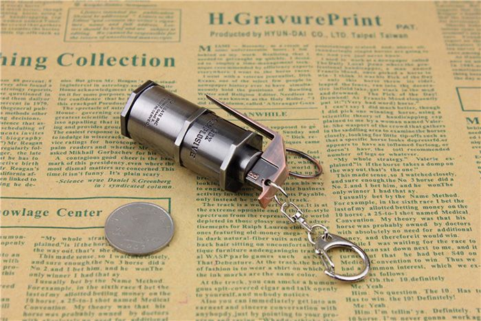 7cm Key Chain HE Grenade Hanging Pendant Metal Keyring for Bag Decoration