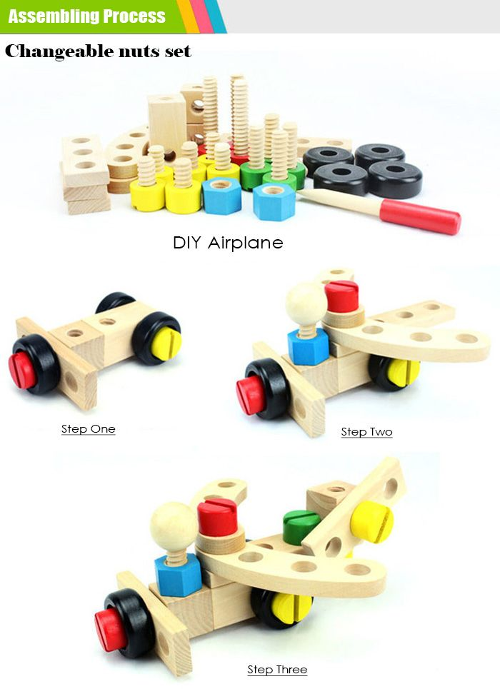 DIY Wooden Car Intelligence Assemble Model for Baby Early Learning Educational Toy