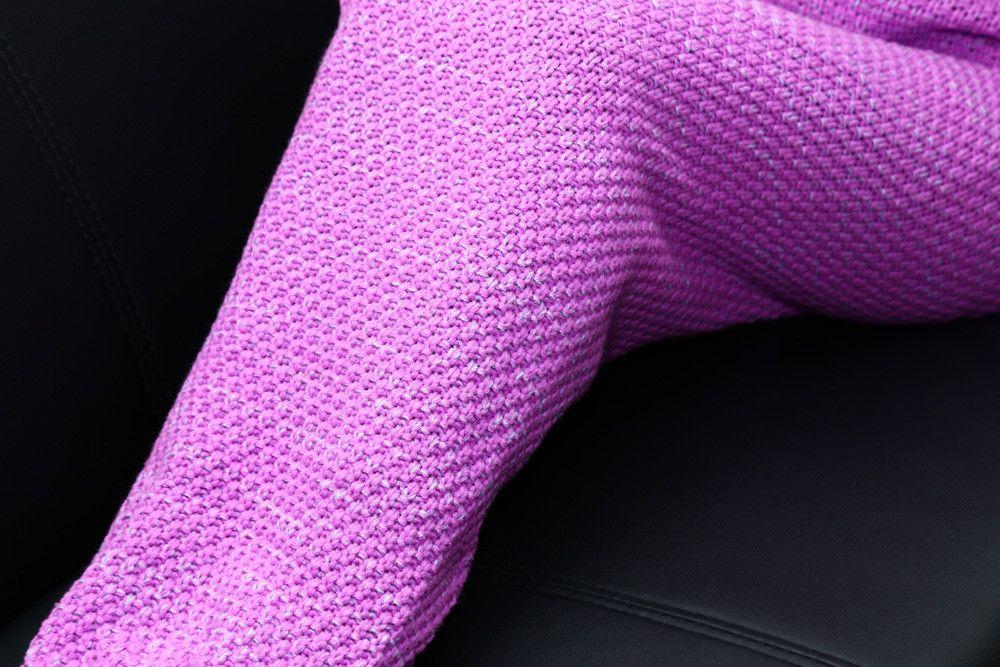 Crocheted / Knited Mermaid Tail Style Blanket
