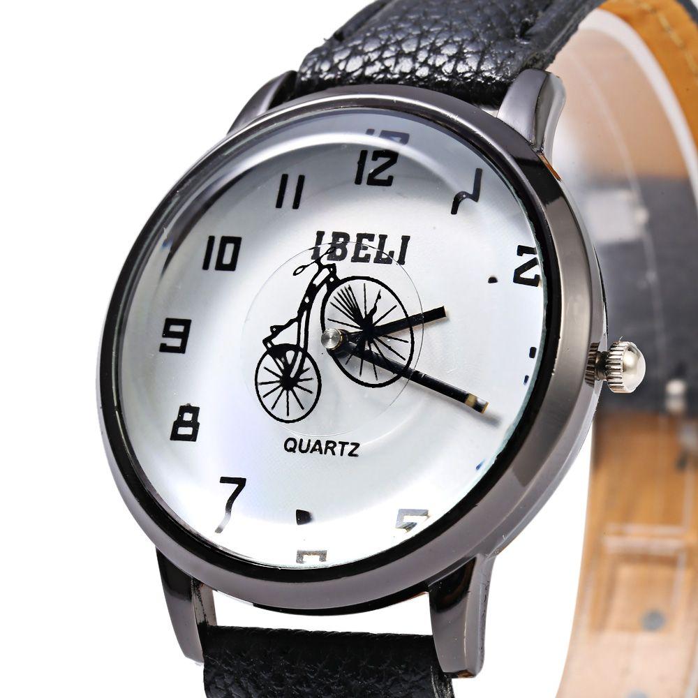 IBELI 805 Quartz Watch Small Bike Second Dial Arabic Numerals for Women