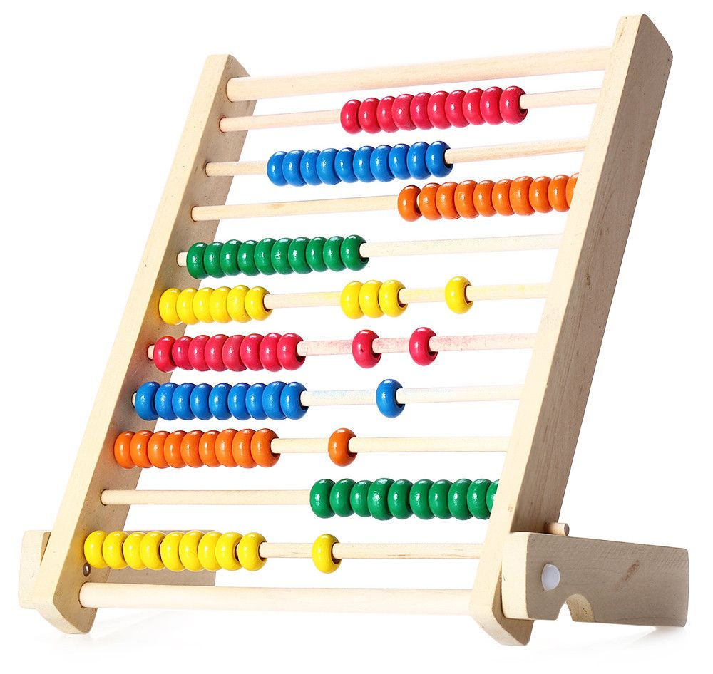 Wooden Fold Beads Abacus Counting Educational Toy for Kid
