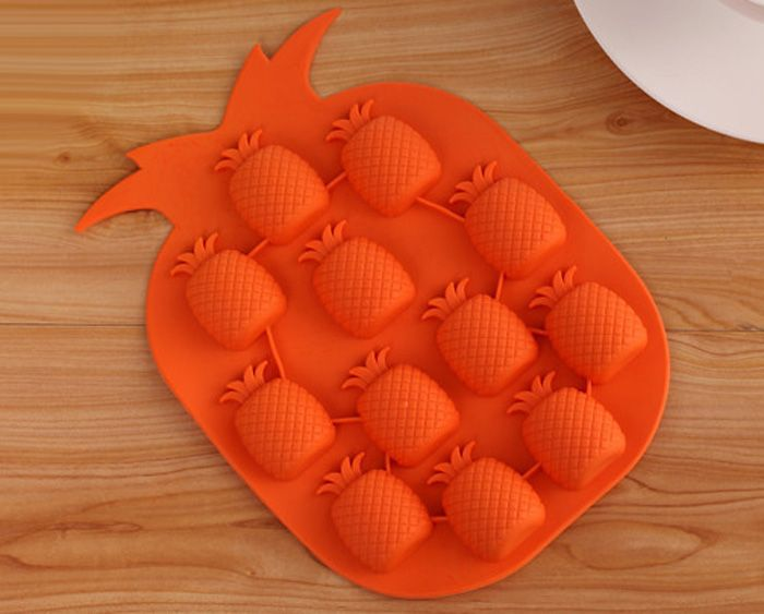 5PCS Pineapple Shape Silicone DIY Ice Mold Cool Drinks Chocolate Soap Making Tool