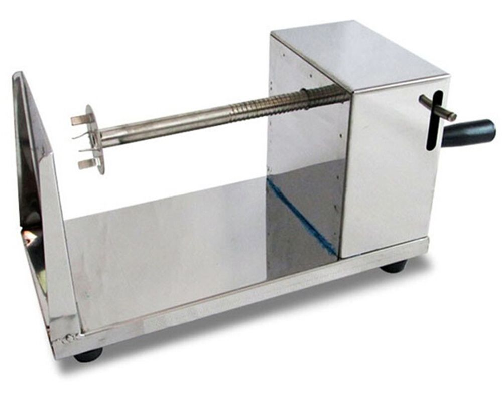 Stainless Steel Manual Spiral Potato Chip Making Machine Homemade Spuds Cutter Slicer