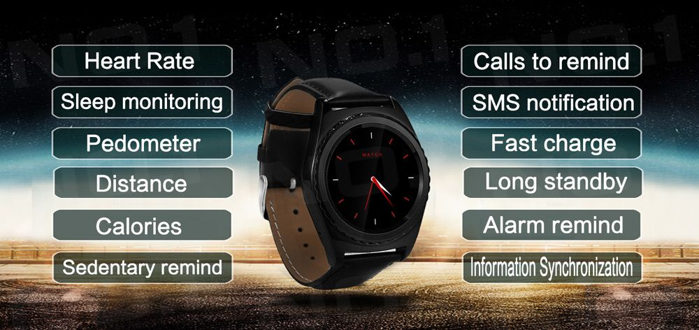 NO.1 S5 Capacitive Touch Screen Bluetooth 3.0 Smart Watch