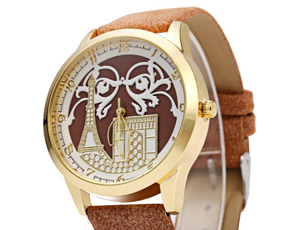 S555 Soft Leather Band Female Quartz Watch