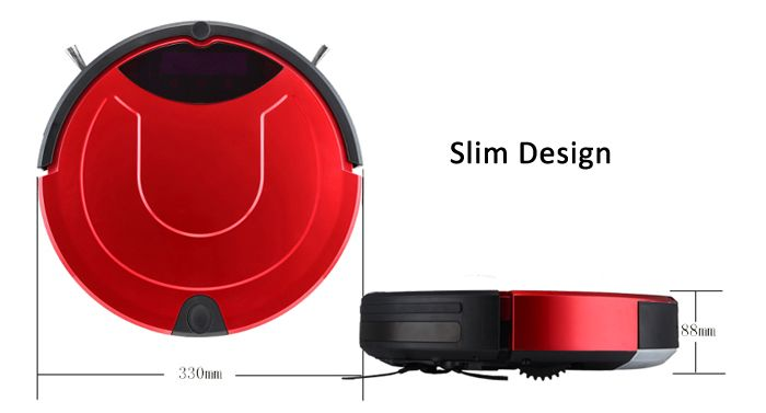 TC - 650 Smart Robotic Vacuum Cleaner Intelligent Automatic IR Avoidance Sensor Remote Control Robot Aspirador