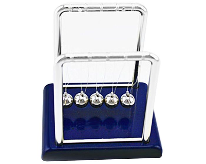 1cm Metal Newton Cradle Balance Ball Physical Pendulum Novelty Desktop Toy