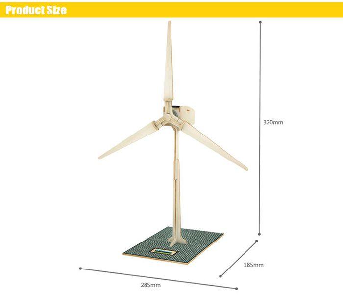 Solar Windmill W100 Puzzle Scientific Green Energy DIY Toy Blocks