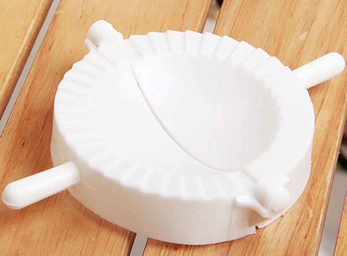 Large Size White Plastic Dumplings Maker Kitchen Dumplings Mould