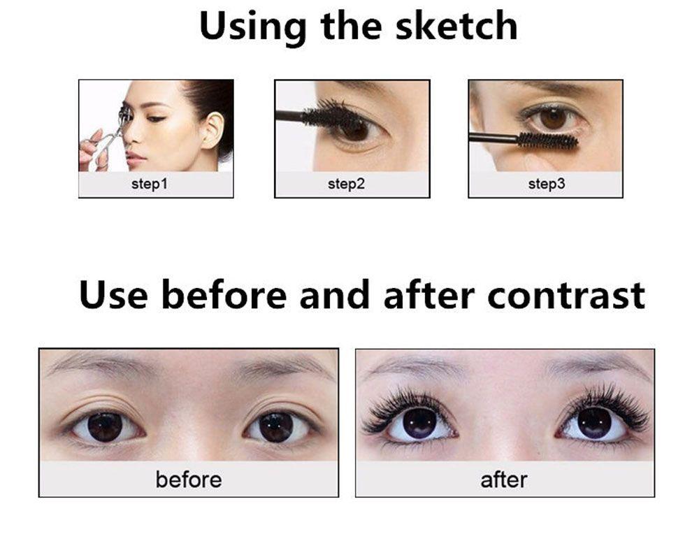 Eyelash Extension Volume Curling Black Mascara