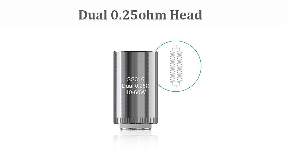 Original Eleaf Dual 0.25ohm Head for LYCHE Atomizer E Cigarette Replacement Heater Core ( 5PCS )