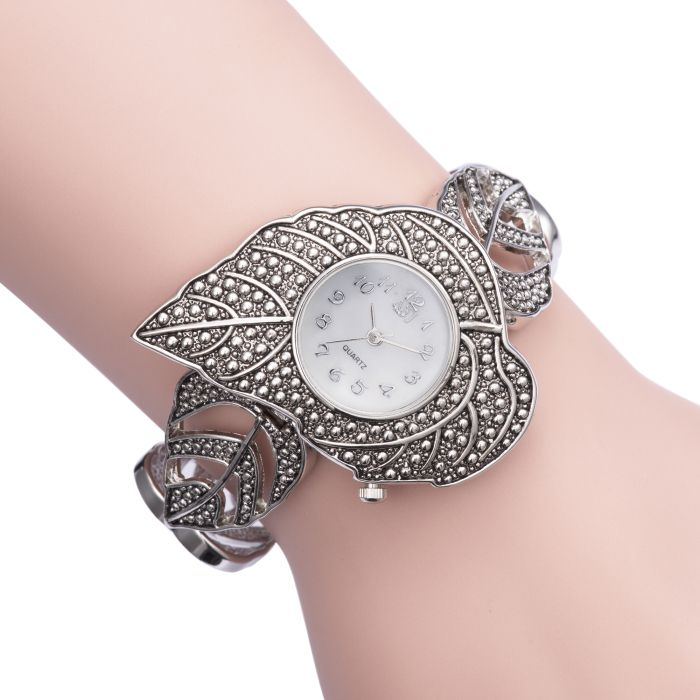 ASJ b039 Maple Pattern Ladies Japan Quartz Watch Decoration Wristwatch