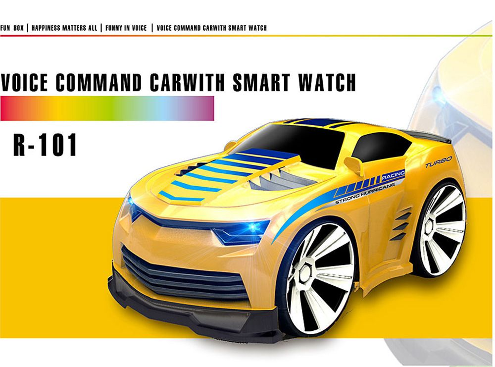 FUNNY IN 2.4GHz Intelligent Toy RC Car Voice Control by Watch Scratch Resistance