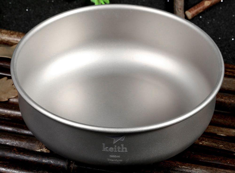 Keith KT334 500mL Titanium Bowl