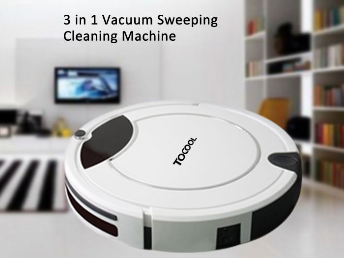 TOCOOL TC - 450 Smart Robotic Vacuum Cleaner Cordless Sweeping Cleaning Machine Self-charge / Remote Control Mopping Tool