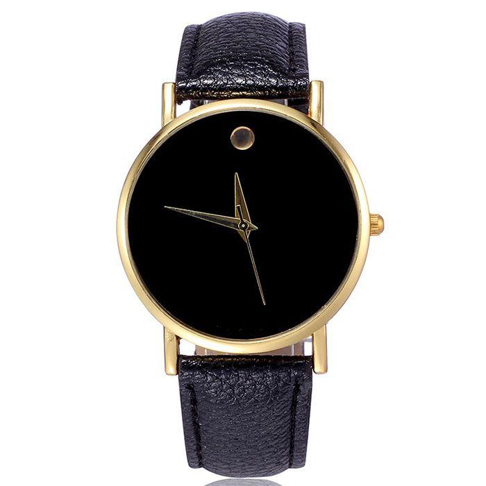 Simple Men Quartz Watch Leather Watchband Wristwatch
