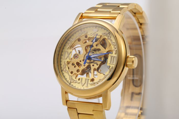 JIJIA Roman Scale Style Hollow-out Mechanical Watch for Men