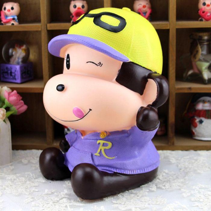 Cute Monkey Shape Saving Pot Money Box Model Toy Decoration Home Bedroom