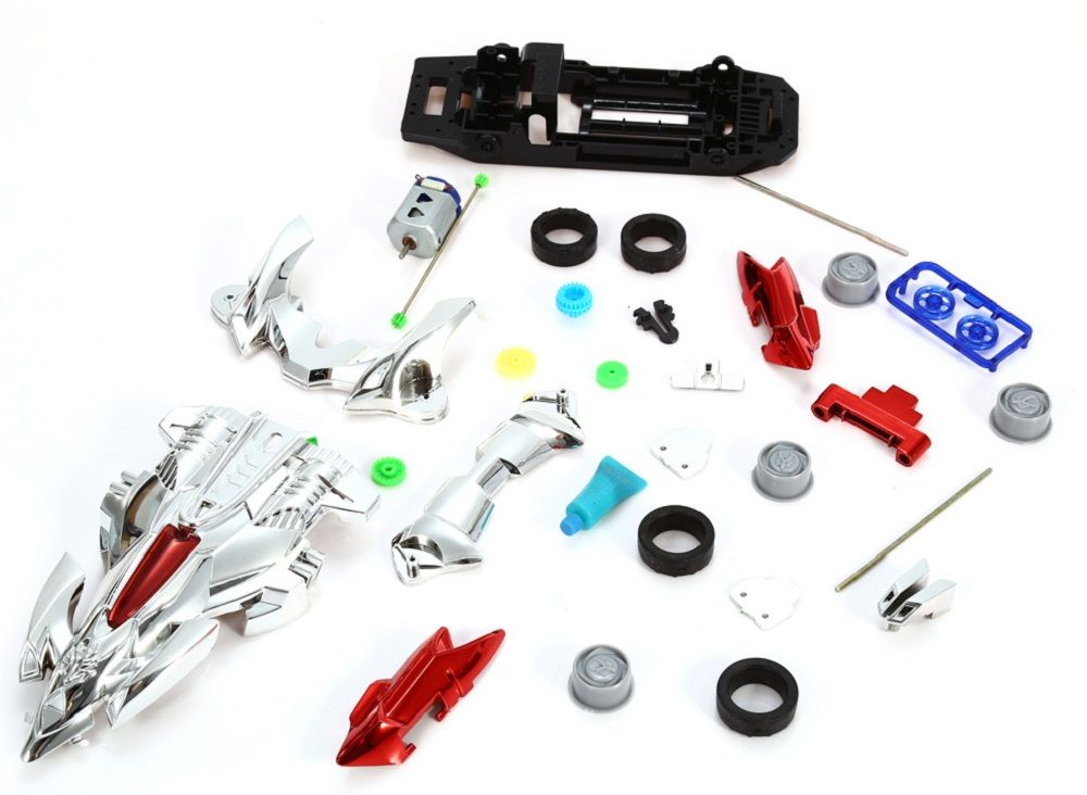 AULDEY 88020 Racing Car Kit ABS Building Brick Educational Birthday Present with Brushed Motor