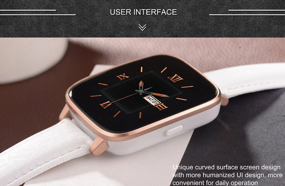 Zeblaze Crystal MTK2502 Smart Bluetooth 4.0 Watch HRM Heart Rate Monitor IP65 Remote Camera Genuine Leather Band