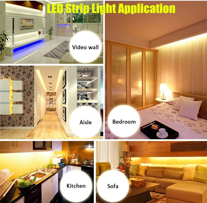 100CM 60 x SMD5730 18W 1400Lm Waterproof LED Ribbon Light