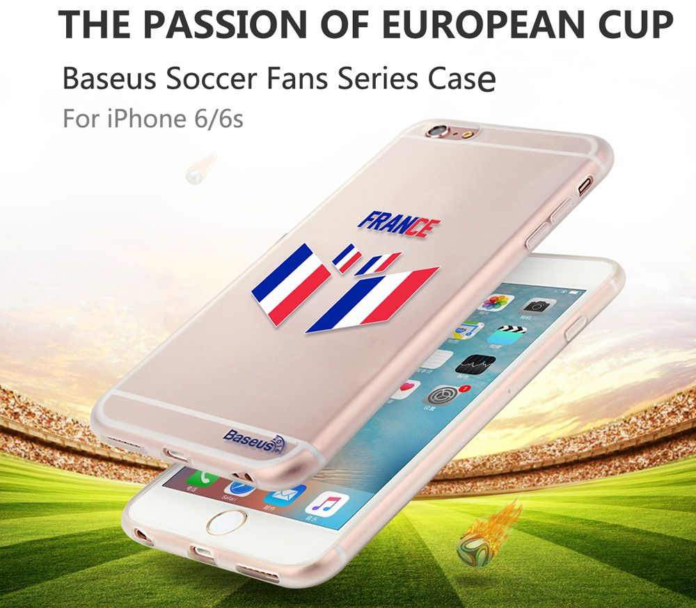 BASEUS Mobile Phone Back Case Protector with European Championship Design for iPhone 6 / 6S
