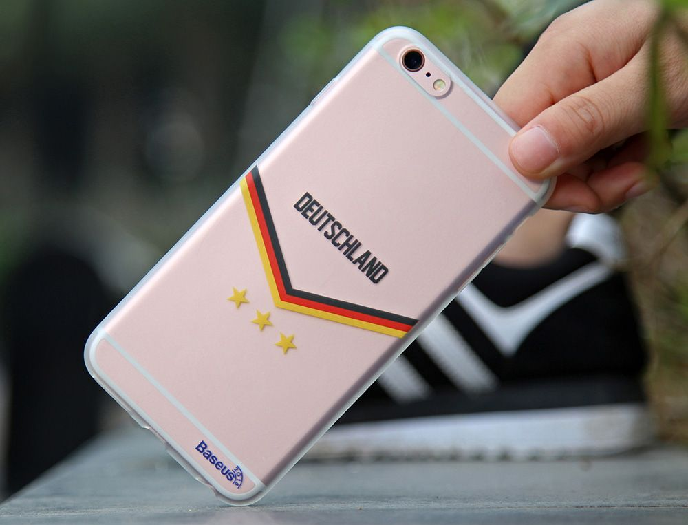 BASEUS Mobile Phone Back Case Protector with European Championship Design for iPhone 6 Plus / 6S Plus