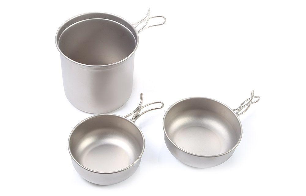 Keith Ti6052 Three-piece Pot Set One Pot Two Bowls