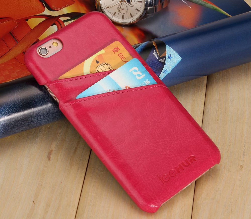 LeeHUR PU Leather Phone Cover Case with Card Slot for iPhone 6 / 6S