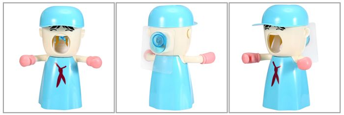 2 in 1 Automatic Toothpaste Dispenser Toothbrush Holder with Wall Sucker
