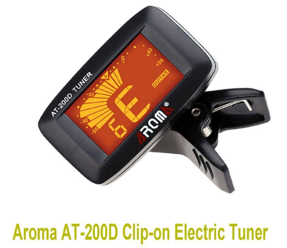 AROMA AT - 200D Portable Guitar Electric Tuner Color Screen Digital Design for Chromatic Guitar/ Bass / Ukulele / Violin