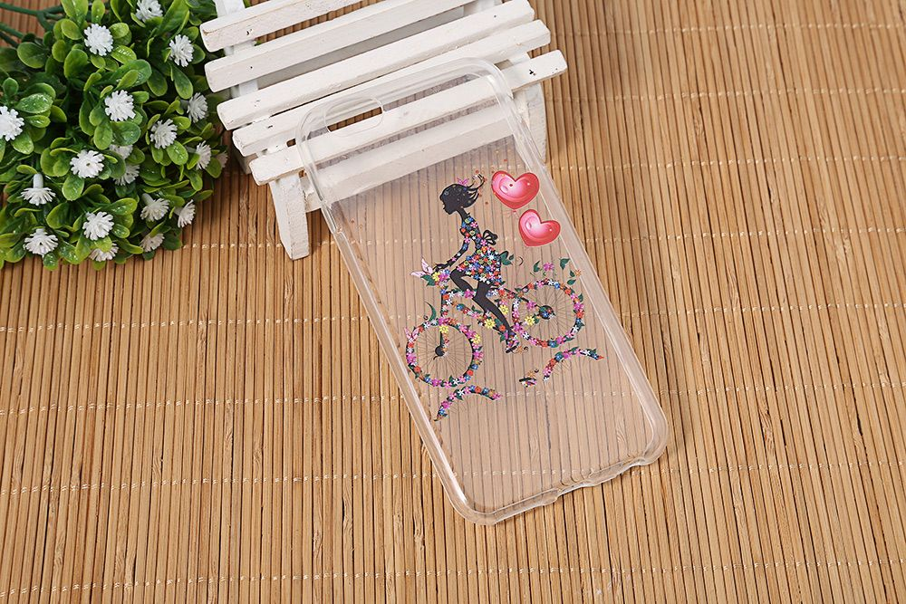 Transparent Style Protective Case for iPhone 6 / 6S Ultra-thin TPU Soft Mobile Shell with Pattern