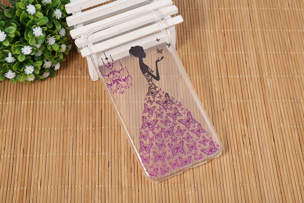 Transparent Style Protective Case for iPhone 6 Plus / 6S Plus Ultra-thin TPU Soft Mobile Shell with Pattern
